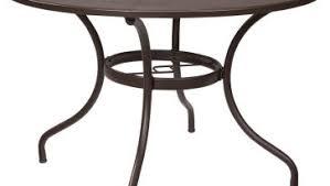 heritage park round dining table walmart mainstays heritage park round dining table brown walmart com patio