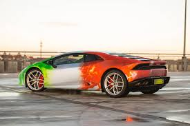 Lamborghini Huracan Design - photo gallery lamborghini huracan with tri colour flames wrap