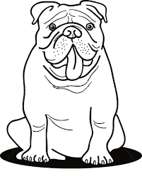 funny bulldog coloring pages place color