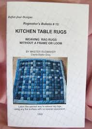 Rag Rugs For Kitchen Kitchen Table Rugs Weave Without A Loom Rag Rug Instructions
