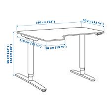 Corner Desk White Bekant Corner Desk Left Sit Stand White Ikea