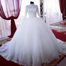 online shop high neck modern style ball gown lace muslim wedding