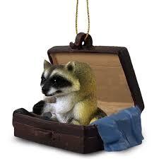 australian shepherd ornament raccoon traveling companion ornament