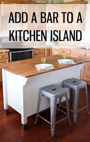 How To Kitchen Island by Adding A Bar To A Kitchen Island Honeybear Lane