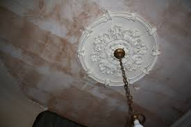 Light Fixture Ceiling Medallion by Decorating With A Ceiling Medallion The Salvaged Boutique