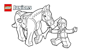 lego juniors pony treats coloring page coloring pages lego