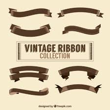 vintage ribbon vintage ribbon collection vector free