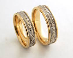 designer wedding rings gorgeous celtic gold two wedding bands custom designs