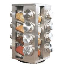 Revolving Spice Rack 20 Jars Spice Rack With 16 Jars Stainless Steel Revolving Stainless