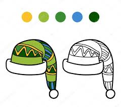 Cahier de coloriage pour les enfants les bonnet hiver  Image