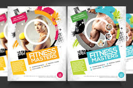 fitness flyer template fitness business promotion flyer flyer templates creative