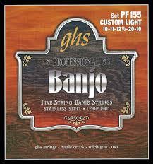 ghs pf155 banjo strings 5 string custom light stainless steel