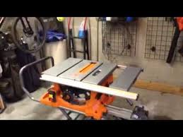 ridgid table saw r4513 parts rigid r4513 table saw youtube