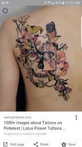 25 best flower tattoo images on pinterest flower side tattoos