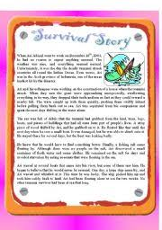 english teaching worksheets tsunami