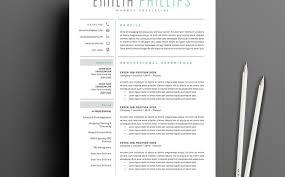 resume creative market resume templates instant download