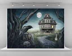 halloween photo backdrops amazon com 7x5ft 2 2x1 5m haunted house photography backdrops