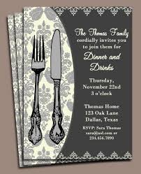dinner invitation dinner invitation printable or printed with free shipping
