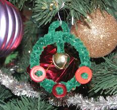 turn outgrown bangle bracelets into wreath ornaments clever