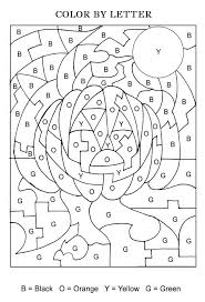 halloween color letters activity coloring pages kids