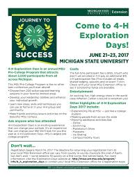 staff information and forms 4 h exploration days msu extension