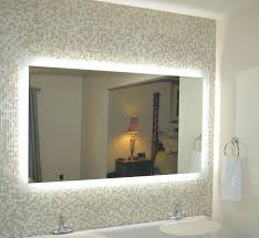 illuminated mirror cabinet varnished oak wood vanity table with