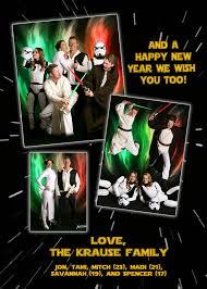 family u0027s star wars holiday card u0027force u0027 reckon