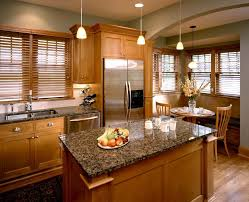 ivory brown granite kitchen traditional with kitchen island