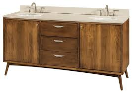 Modern Wood Bathroom Vanity Mid Century Modern Bathroom Vanity Brown Maple Wood Midcentury