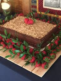 german chocolate groom u0027s cake with strawberries anniversary