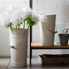 Florist Vases Ceramic Floral Bucket Vases West Elm