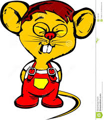 fuuny yellow mouse royalty free stock images image 4182769