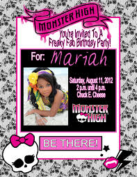 Personalized Memes - monster high personalized photo birthday invitations 1 09