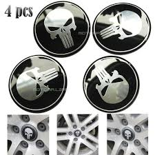 jeep steering wheel emblem 4pcs 60mm punisher logo car steering wheel center hub cap emblem
