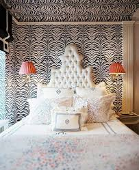 animal print bedroom ideas zebra wallpaper and wall sconce