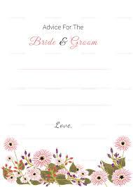 floral wedding advice card design template in illustrator