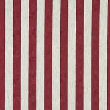 Upholstery Linen Fabric By The Yard Red And Off White Striped Linen Look Upholstery Fabric By The Yard