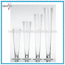 Large Round Glass Vase Clear Trumpet Vases Clear Trumpet Vases Suppliers And