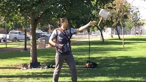 real life thor builds a flying mjolnir hammer that returns to him