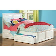 Wooden Beds With Drawers Underneath Bed Frames White Queen Storage Bed King Platform Bed With