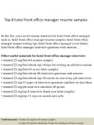 Hotel Front Desk Resume Examples by Hotel Front Office Manager Linkedin
