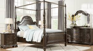 queen canopy bed whittington cherry 6 pc queen canopy bedroom clearance dark wood