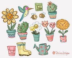 cactus clipart set clip art set of cactus cacti cactuses