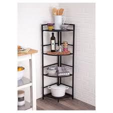 Corner Bookcase Unit Flipshelf 4 Tier Corner Shelving Unit Black Target