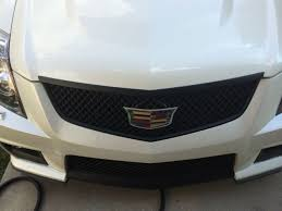 cadillac cts v grill attempt at swapping ats cadillac badges onto my cts v need ideas