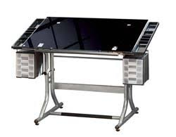 Glass Top Drafting Drawing Table Drafting Table Adjustable Drafting Table Workstation Drawing Desk