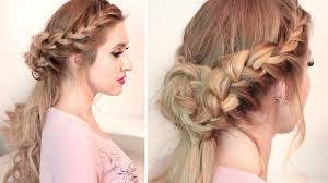 braided half up half down hairstyle tutorial for long hair with