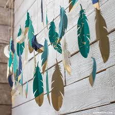 Paper Hanging L Paper Feather Wall Hanging Paper Feathers Feather Garland And