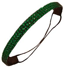 green headband rhinestone glitter headband green