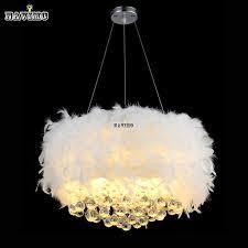 Chandelier Light For Girls Room Discount Fluffy Feathers Crystal 3 Light Girls Room Pendant Chrome